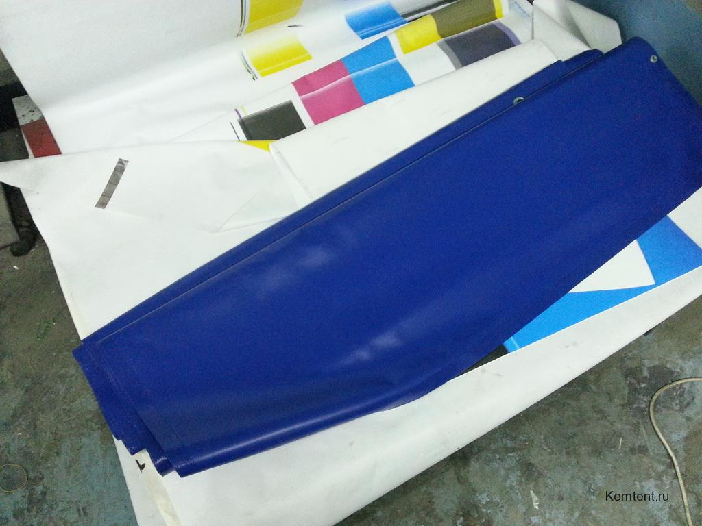 Штора для гаража из ткани-ПВХ
