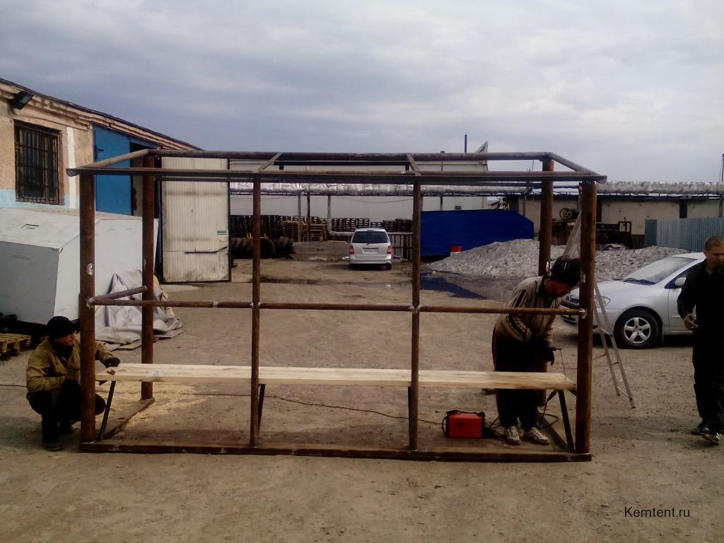 Сварной каркаса для автобусной остановки в Кемерово