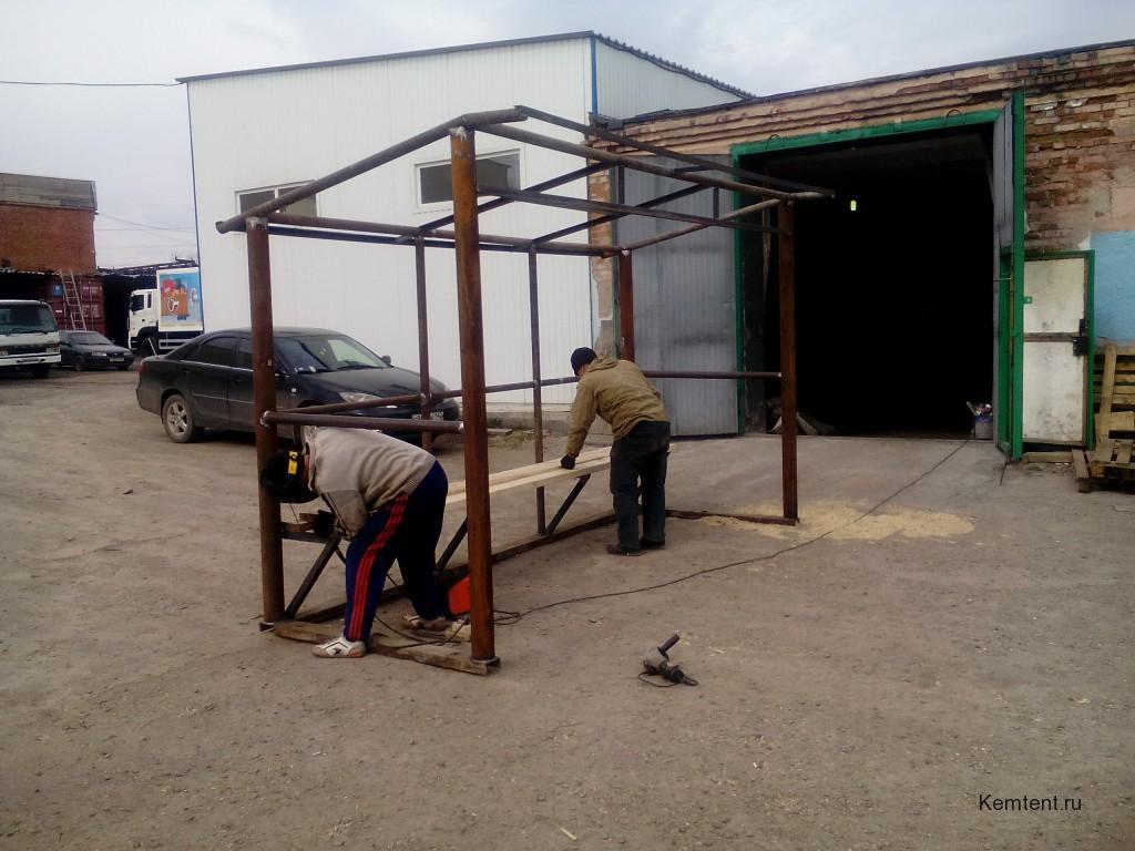 Производство автобусной остановка в Кемерово, сварочные работы