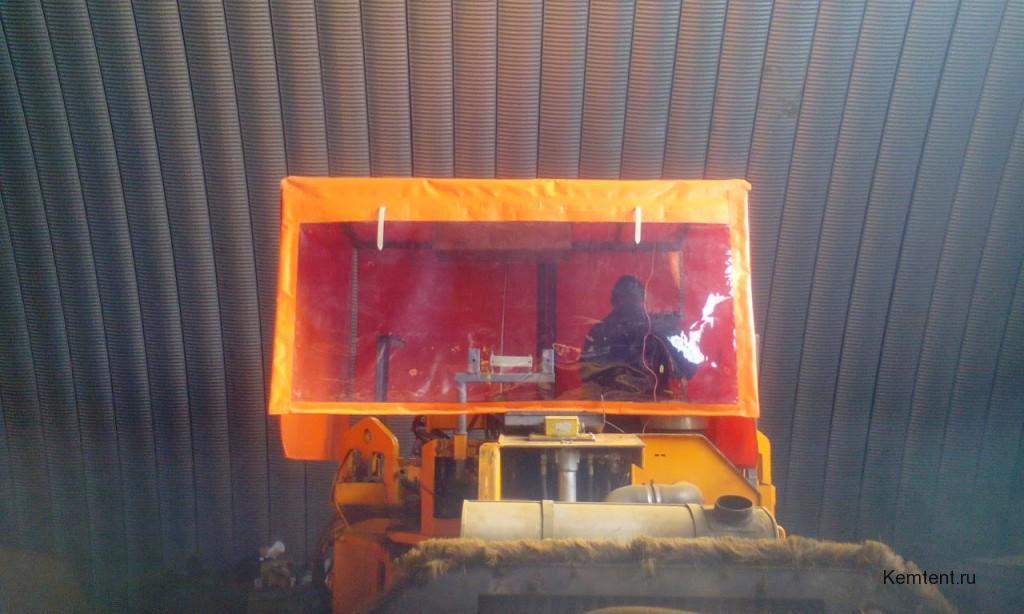 Изготовление тента на асфальтоукладчик в Кемерово