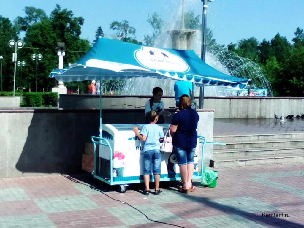 Тент торговый для прилавка мороженого