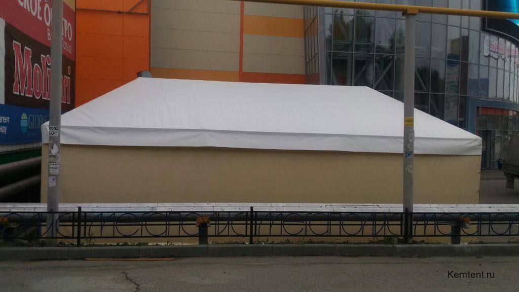 Изготовление тента-шатра для летнего кафе