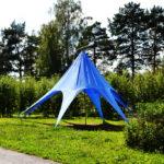 Шатер-зонт васильковый