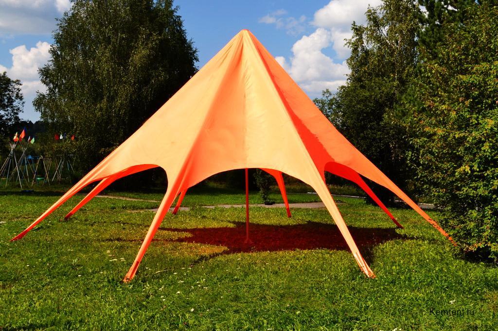 Вантовый шатер для базы отдыха