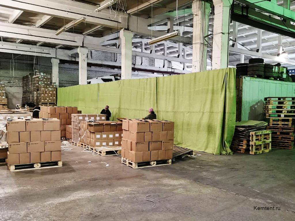 Завесы брезентовые на склад